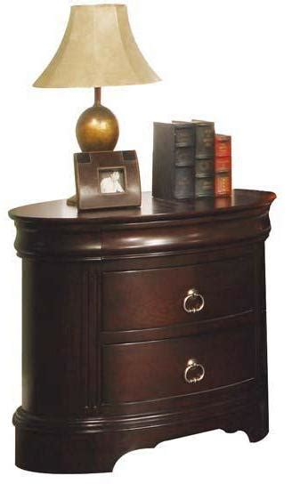 Oval Nightstand by Renaissance Three Drawer Oval Nightstand Rotmans