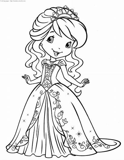 Shortcake Strawberry Coloring Princess Pages Miracle Timeless