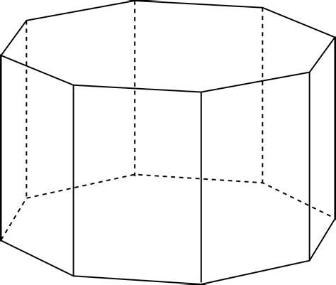 octagonal prism clipart