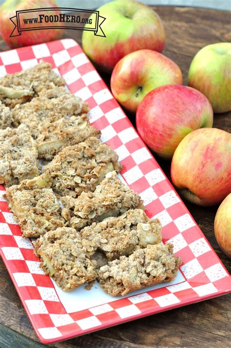 Bake up a tray of Apple Bars for a healthy dessert or kid ...
