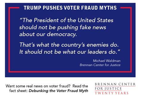fraud trump voter president pushes brennan justice center