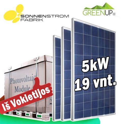Saulės baterijų kaina 18x270W. Polikristalinės saules baterijos. Garantija 25 metai.