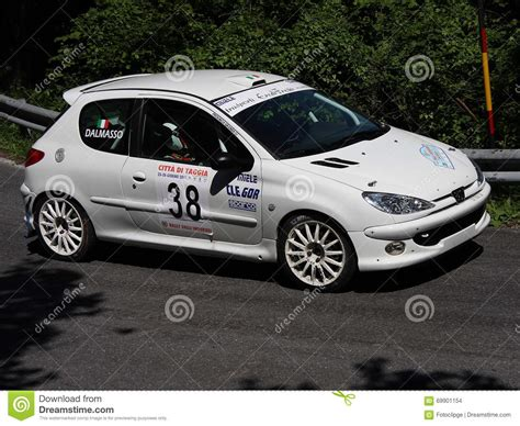 peugeot 206 rally peugeot 206 rc rally car editorial stock image image of