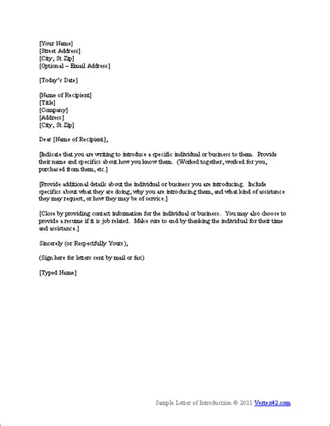 letter  introduction template letter  introduction