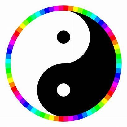 Yang Yin Clipart Rainbow Wheel Clip Yinyang