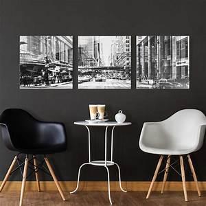 Glasbild Schwarz Weiß : glasbild mehrteilig nyc urban schwarz weiss 3 teilig ~ A.2002-acura-tl-radio.info Haus und Dekorationen