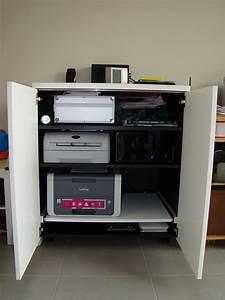meuble pour ordinateur portable et imprimante 3 agreable With meubles pour ordinateur et imprimante