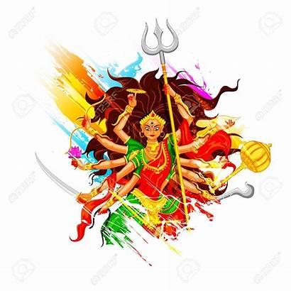 Durga Dussehra Goddess Maa Happy Puja Clipart