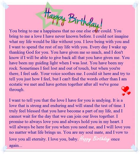 birthday paragraph   sample birthday letters