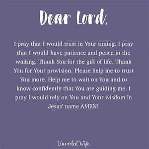 Prayer  Waiting On God