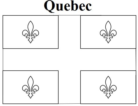 Free Coloring Pages Of Quebec Flag
