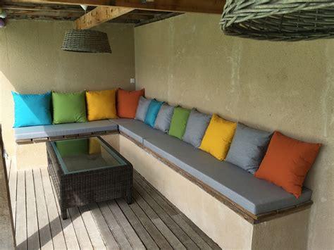 matelas pour canape exterieur coussin exterieur sur mesure coussin et matelas sunbrella