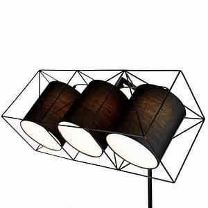 Lampadaire 3 Spots : lampadaire 3 spots 128 cm noxe ~ Teatrodelosmanantiales.com Idées de Décoration