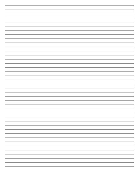 blank lined writing paper template