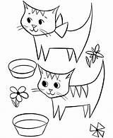 Coloring Cat Gatti Cats Bambini Simpatici Due Alifiah Biz Popular Library Kaynak Preschool sketch template