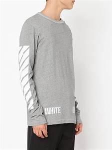 8149190d1ec9d2 lyst off white c o virgil abloh long sleeve t shirt in gray for men