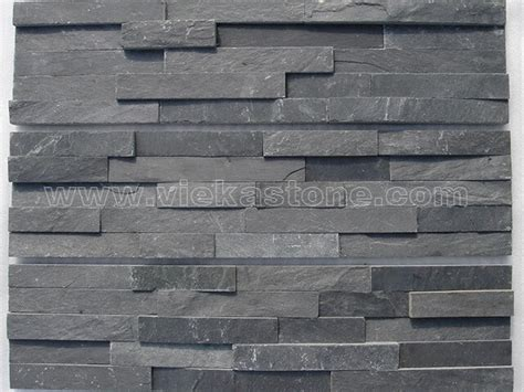 slate panels charcoal black slate stone panel wall cladding rp002 vieka natural culture stone slate
