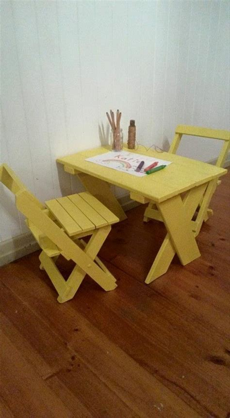 pallet school study furniture pallet ideas