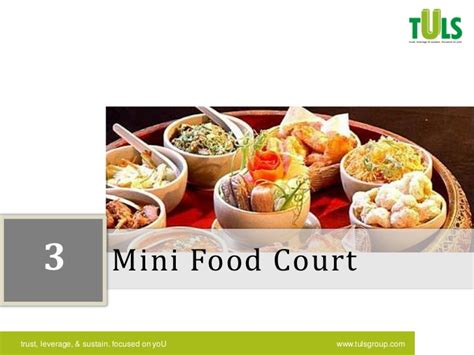 am駭agement mini cuisine global city food court configuration mapping from tuls management