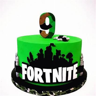 Cake Birthday Cakes 9th Fortnite 14th Boy