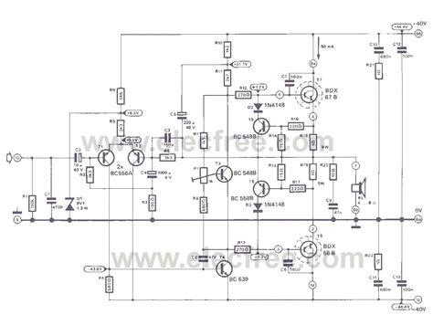 ideas   watt amplifier circuit eleccircuitcom