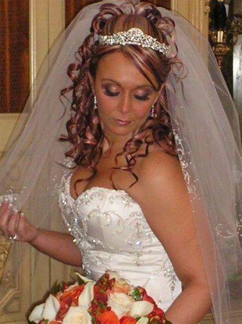 s hair style bridal hair with tiara and veil