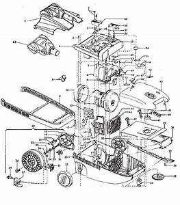 Hoover S3643 Windtunnel Canister Vacuum Parts List  U0026 Schematic