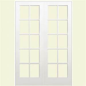 masonite 60 in x 80 in smooth 10 lite solid core primed With 60x80 french doors