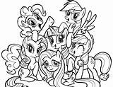 Coloring Pages Ponyville Printable Ponies Cartoon sketch template