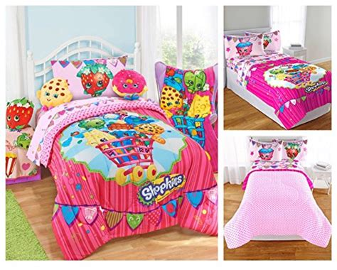 Shopkins Kids 5 Piece Bed In A Bag Full Size Bedding Set Tiger Print Mink Blanket Wool Blankets For Double Bed Care Bear Receiving Quick And Easy Knitting Patterns Baby Pups In Recipe Automatic Electric Snow Leopard Fleece Italian Military Surplus