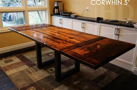 reclaimed wood and metal furniture reclaimed wood table with black steel legs in burlington Reclaimed Wood And Metal Furniture
