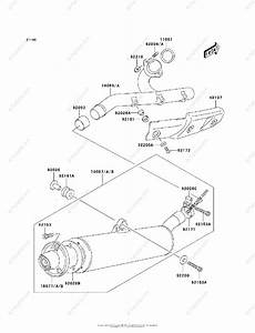 Kawasaki Atv 2004 Oem Parts Diagram For Muffler S