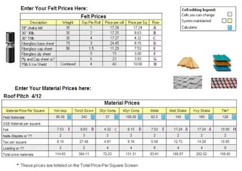 roofing material price per square calculator roofgenius