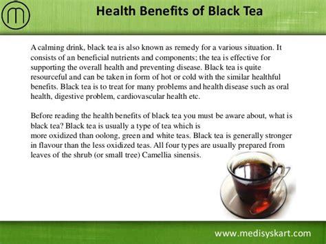 black tea benefits health benefits of black tea