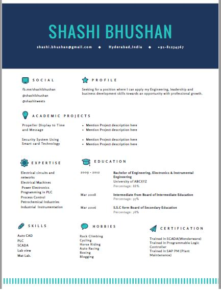 Exles Of Cv For Freshers by Resume Format Cv Format Freshers Resume Sle Templates