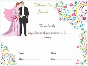Wedding invitation template s simple and elegant for Wedding invitation sample word document
