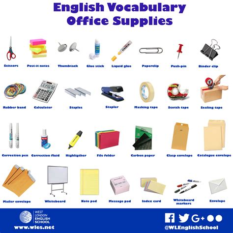 and equipment vocabulary with pictures lesson vocabulary office supplies west school Office