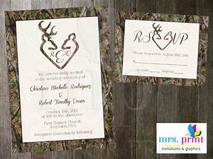 items similar to camo deer hearts wedding invitation and With free printable camouflage wedding invitations