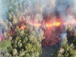 Hawaii volcano latest: Drone footage shows lava spewing ...