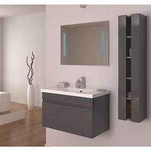 alban salle de bain complete simple vasque 80 cm gris With vente salle de bain