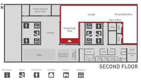 floor plans group study area wac bennett library sfu