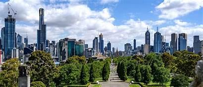 Melbourne Shrine Buildings Tallest January Viewed Skyline