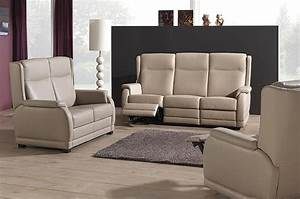Mailleux canape beige 3 places relax photo 10 20 for Tapis ethnique avec canapé cuir beige 2 places