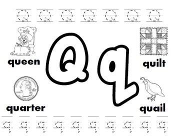 letter q worksheets by kindergarten swag teachers pay 507 | original 3259391 1