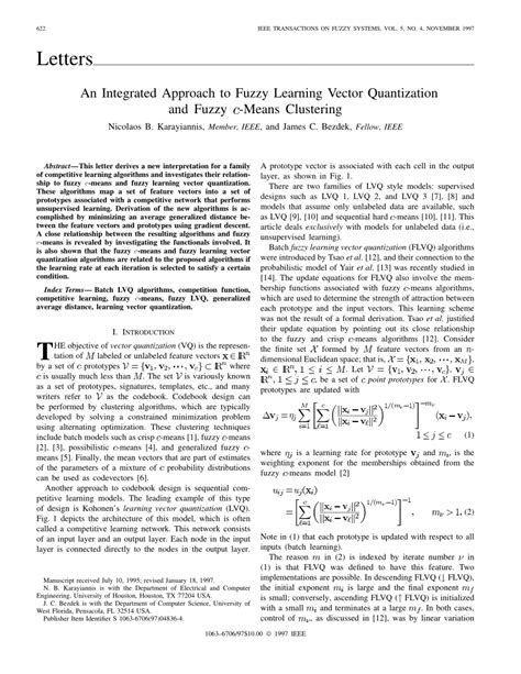 (PDF) An integrated approach to fuzzy learning vector