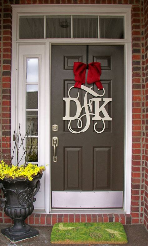 custom monogram door hangerwooden monogrammed wreathwall hangingfront doorletterinitial