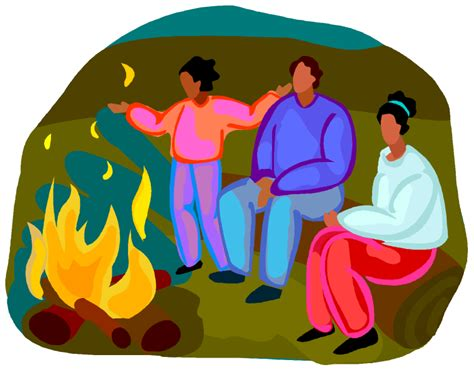 Singing Around The Campfire Clipart