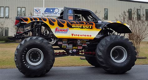 bigfoot monster truck bigfoot monster truck visits local company that keeps it