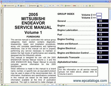 vehicle repair manual 2004 mitsubishi endeavor transmission control mitsubishi endeavor 2004 2005