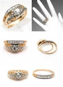 antique gold wedding rings antique yellow gold wedding ring sets the wedding specialists